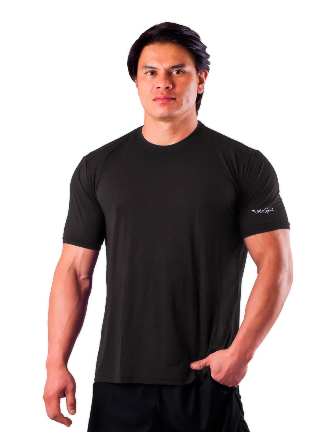 Camiseta Básica Dry Poliamida Villa Sports Preto