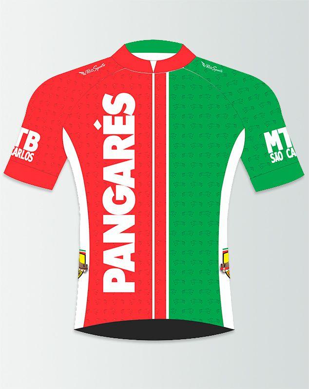 Camiseta de Ciclismo Manga Curta Zíper Inteiro Pangarés