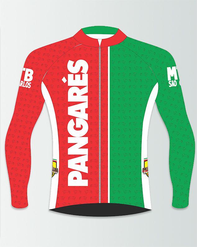 Camiseta de Ciclismo Manga Longa Zíper Inteiro Pangarés