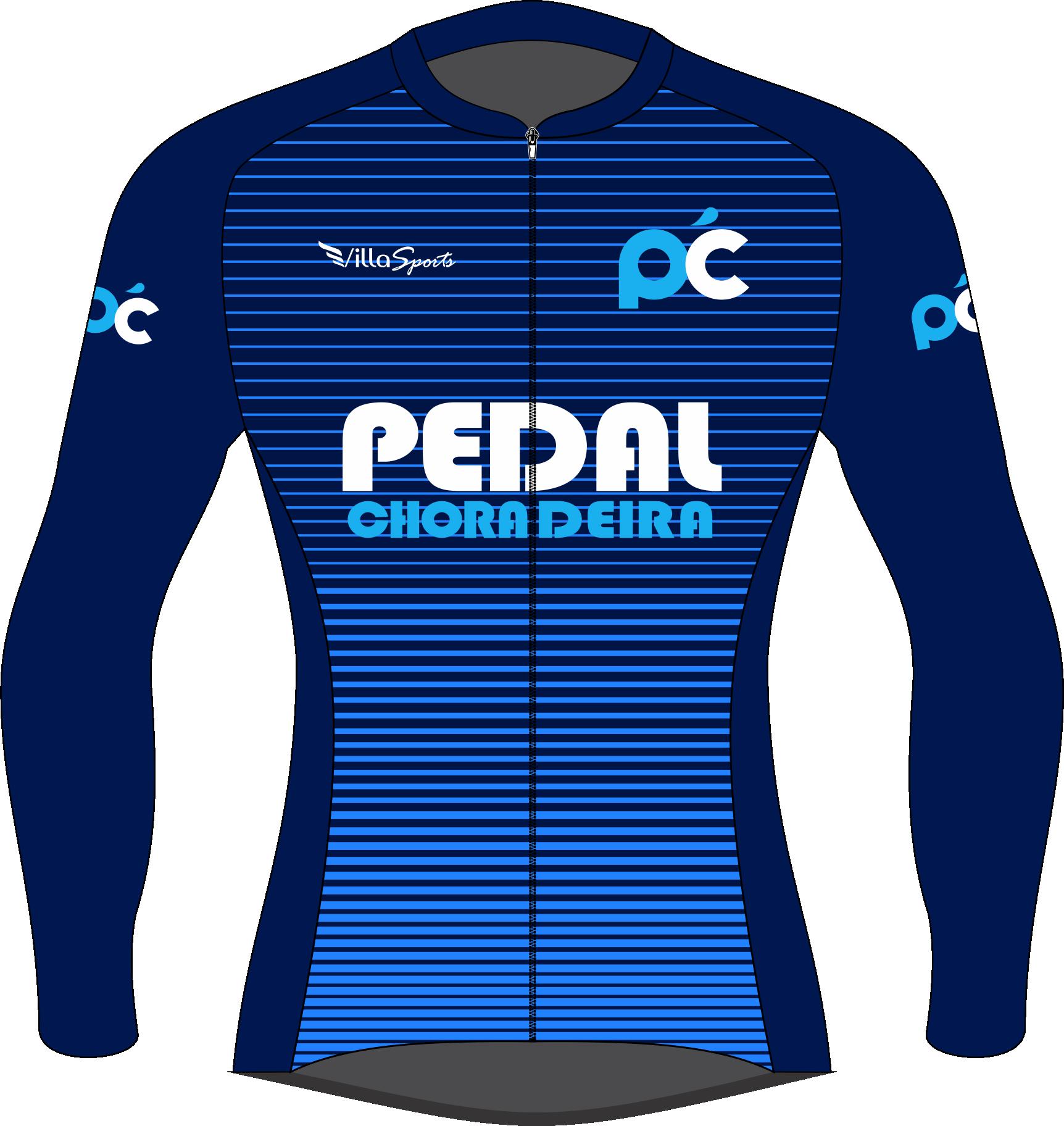 Camiseta de Ciclismo Manga Longa Zíper Inteiro pedalchoradeira