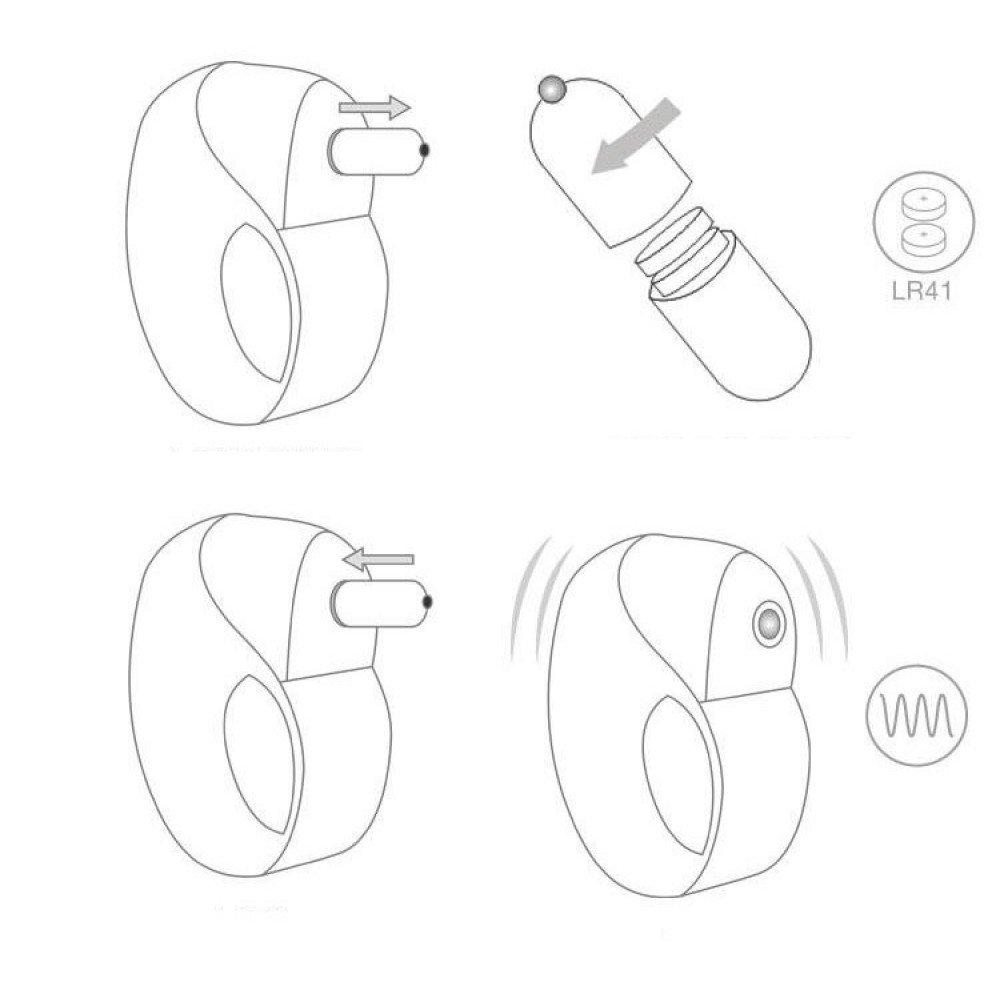 Anel Peniano em Silicone com Cápsula Vibratória