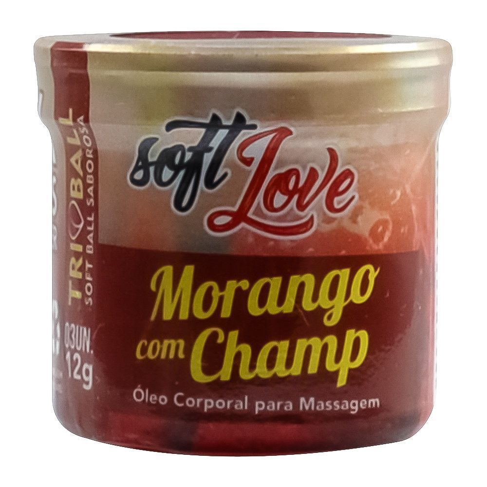 Bolinha Funcional Morango com Champagne Triball - Soft Love
