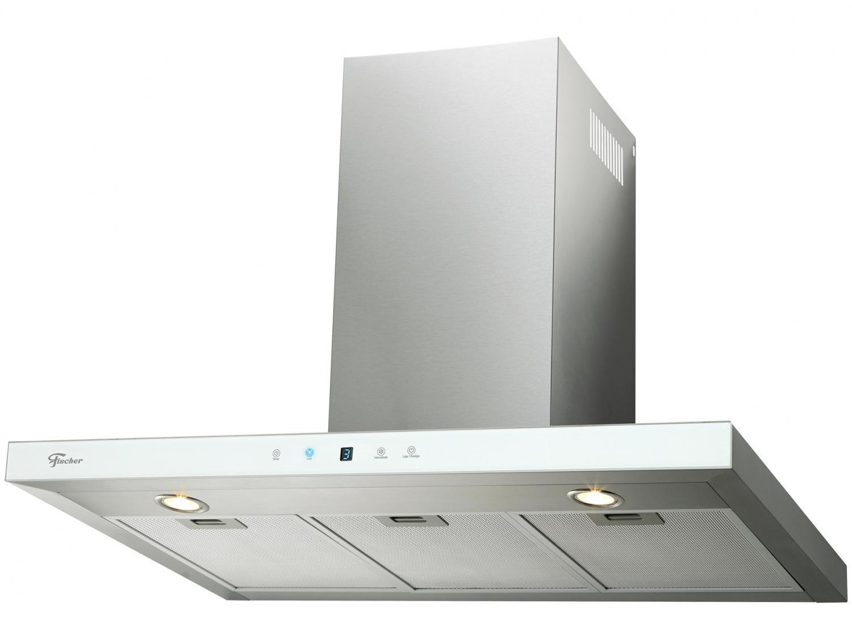 Coifa de parede Infinity 90cm vidro branco Fischer 220V