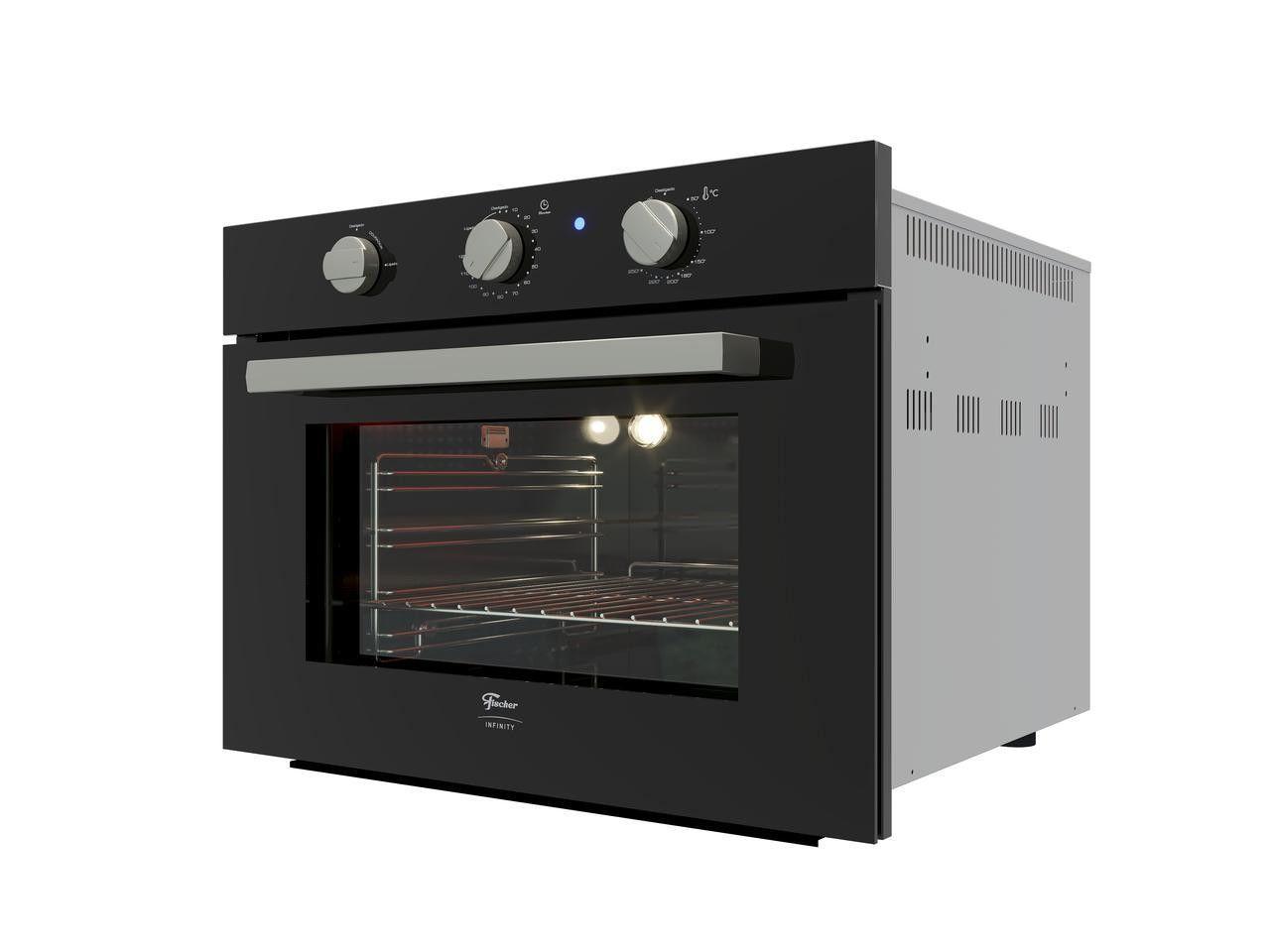 Forno Elétrico De Embutir Fischer Infinity 50L Com Grill Preto 220V