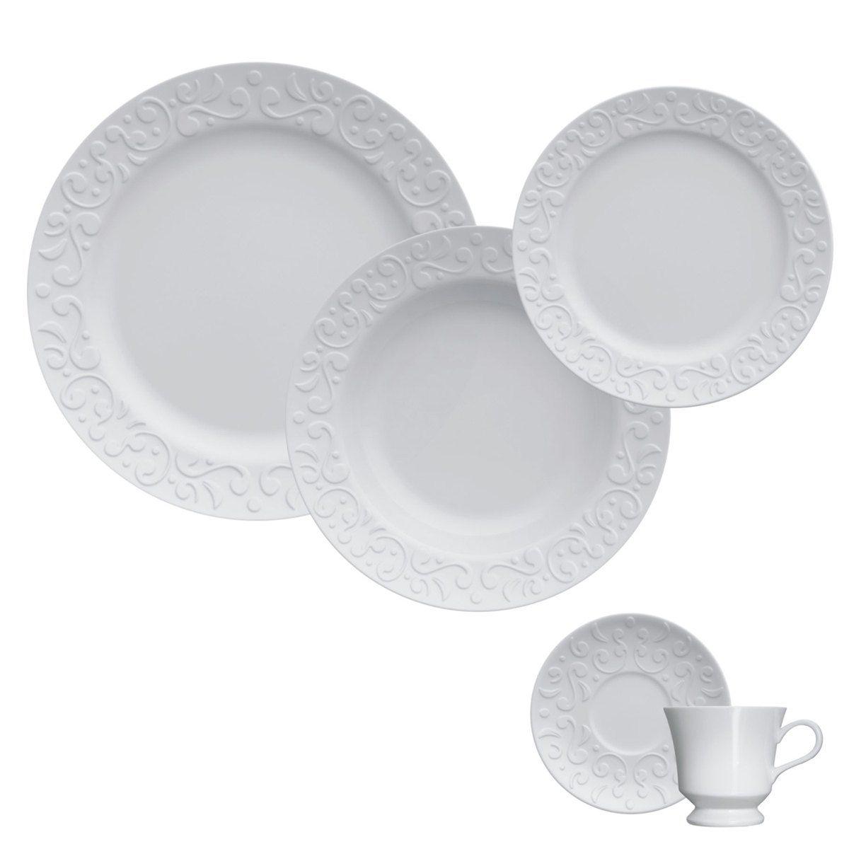 Jogo de Jantar e Chá 30 Peças Tassel Germer