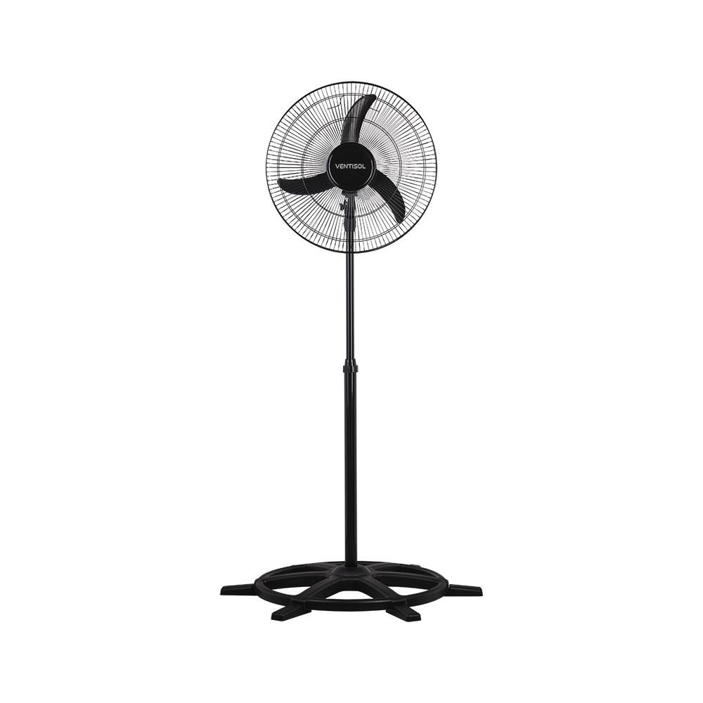 Ventilador de Coluna Preto Oscilante 50cm New Silencioso Ventisol 220V