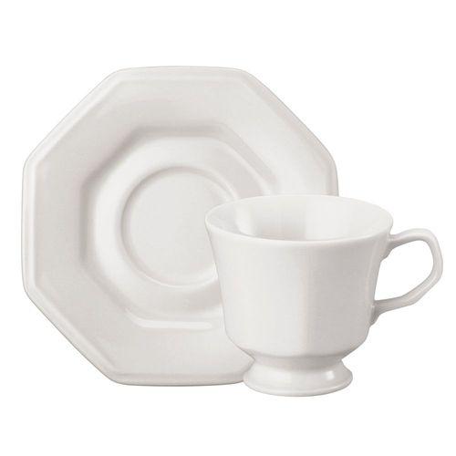 Xícara chá c/pires prisma Schmidt caixa c/12 pçs
