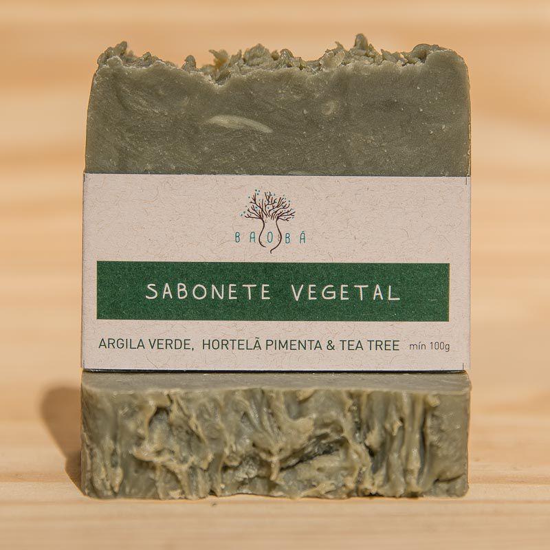 SABONETE ARGILA VERDE, HORTELÃ PIMENTA E TEA TREE