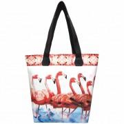 Bolsa Feminina Tropical Flamingos Vermelhos, Magicc