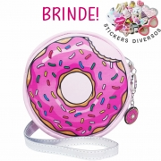 Bolsa Infantil Donut Rosa, Magicc - Atacado 10 Bolsas