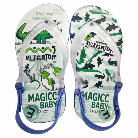Chinelo Bebê Magicc Baby Sandália Infantil Jacaré Meninos