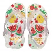Chinelo Menina Bebê Sandália Frutinhas e Flores Magicc Baby