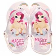 Chinelo Bebê Sandália Infantil Pônei Meninas Magicc Baby