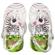 Chinelo Bebê Buzzy Sandália Infantil Zebrinha Bebê Meninas BZ026