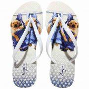 Chinelo Feminino Pet Cachorrinhos Jeans, Magicc