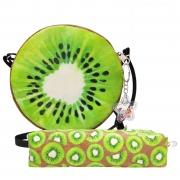 Kit Infantil Bolsa e Estojo Frutinhas Kiwi Magicc
