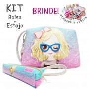 Kit Infantil Menininha Com Óculos com Bolsa e Estojo, Magicc Bolsas