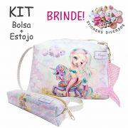 Kit Infantil Bolsa e Estojo, Sereia Feliz - Magicc Bolsas
