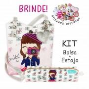 Kit Infantil Smile com Bolsa e Estojo, Magicc Bolsas