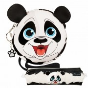Kit Infantil Bolsa e Estojo Ursinho Panda, Magicc Bolsas