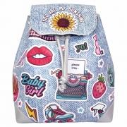 Mochila Bolsa Infantil Feminina Stickers Costas, Magic