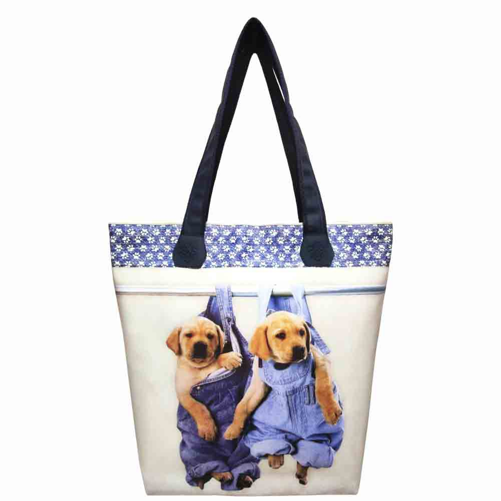 Bolsa Feminina Pet Cachorrinhos Jeans, Magicc