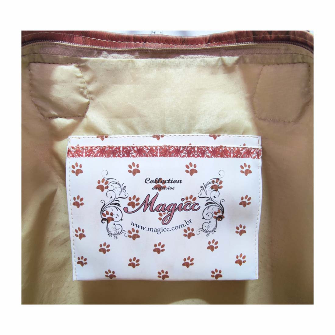 Bolsa Pet Feminina Cachorro com Chapéu, Magicc