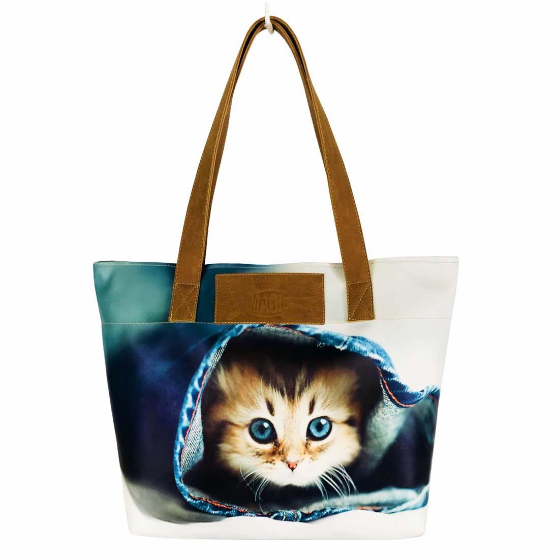 Bolsa Feminina Pet Gatinho Azul, Magicc