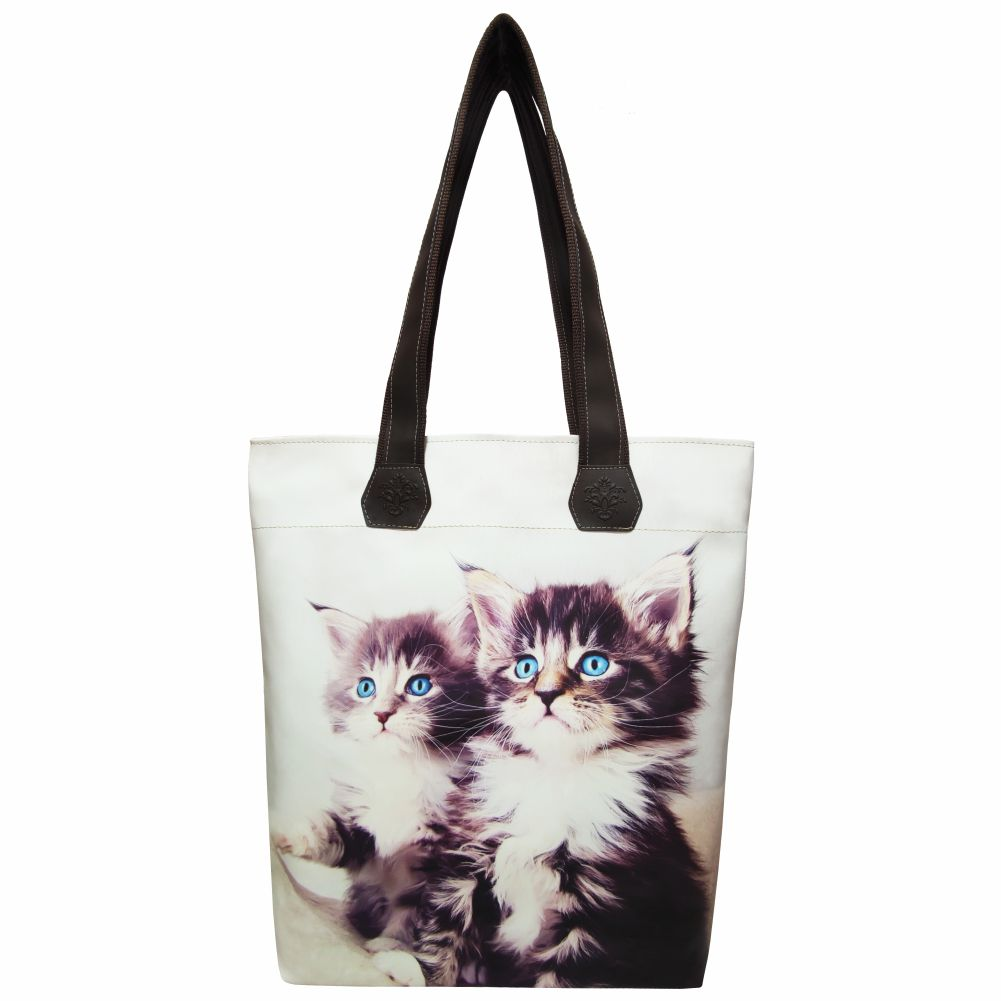 Bolsa Feminina Pet Gatinhos Olhos Azuis, Magicc