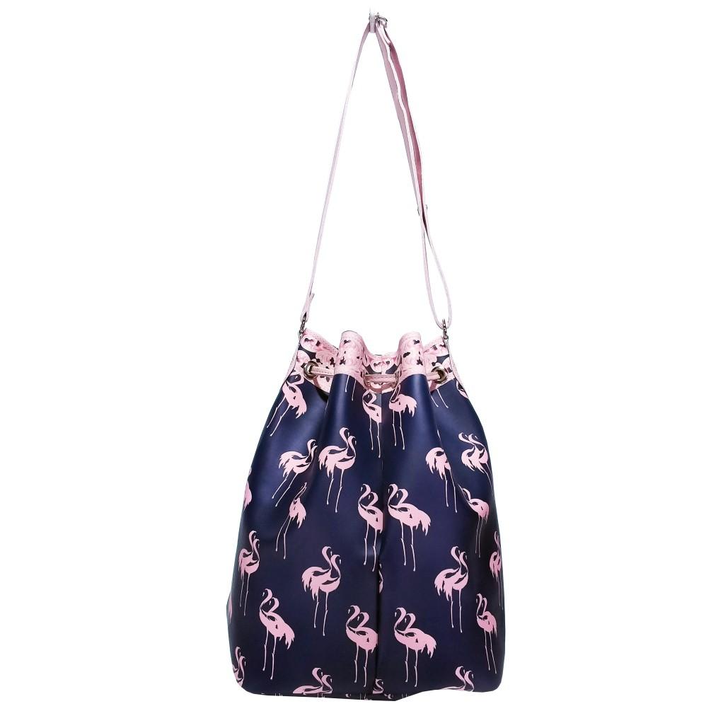 Bolsa Feminina Saco Flamingos, Magicc