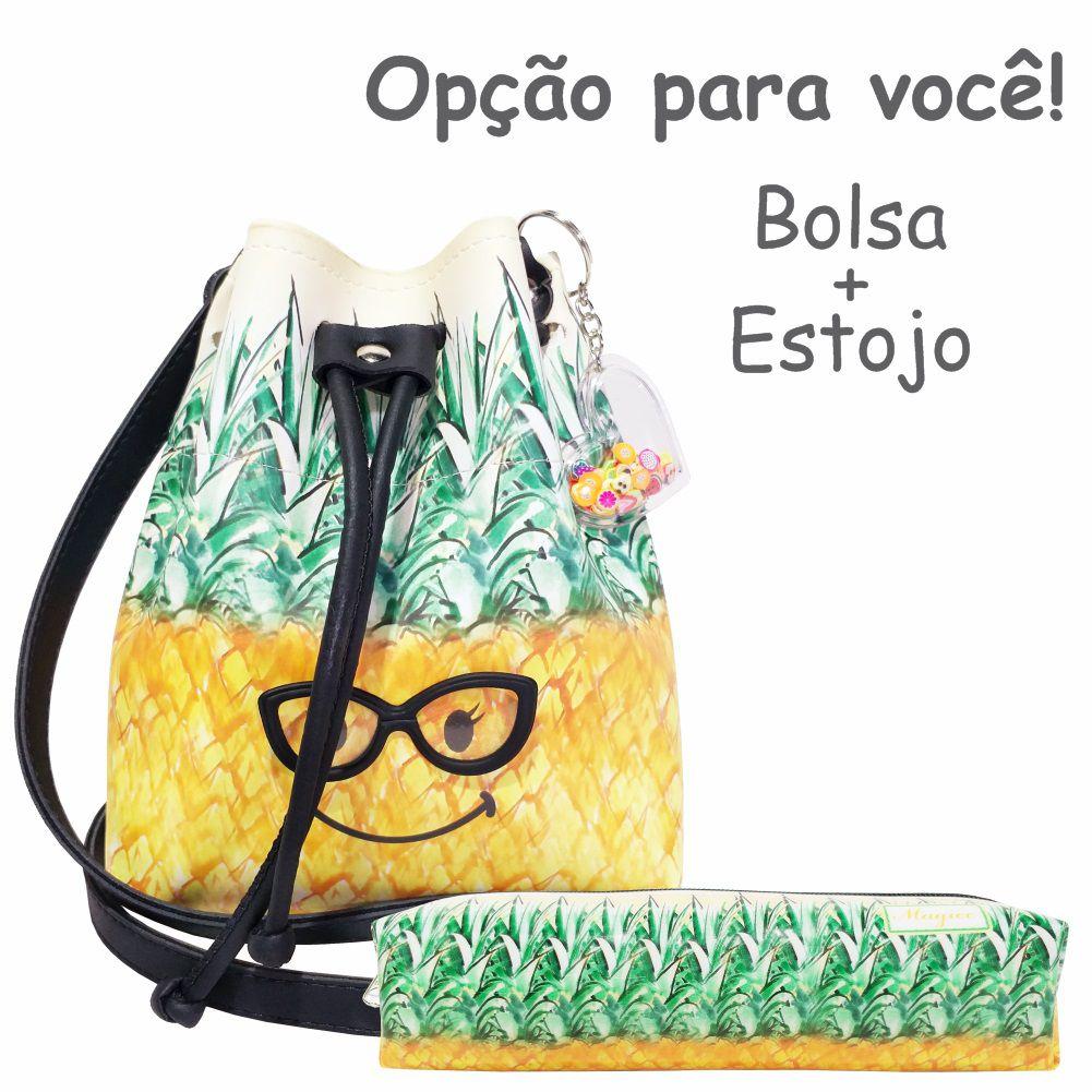 Bolsa Infantil Abacaxi com Óculos, Magicc
