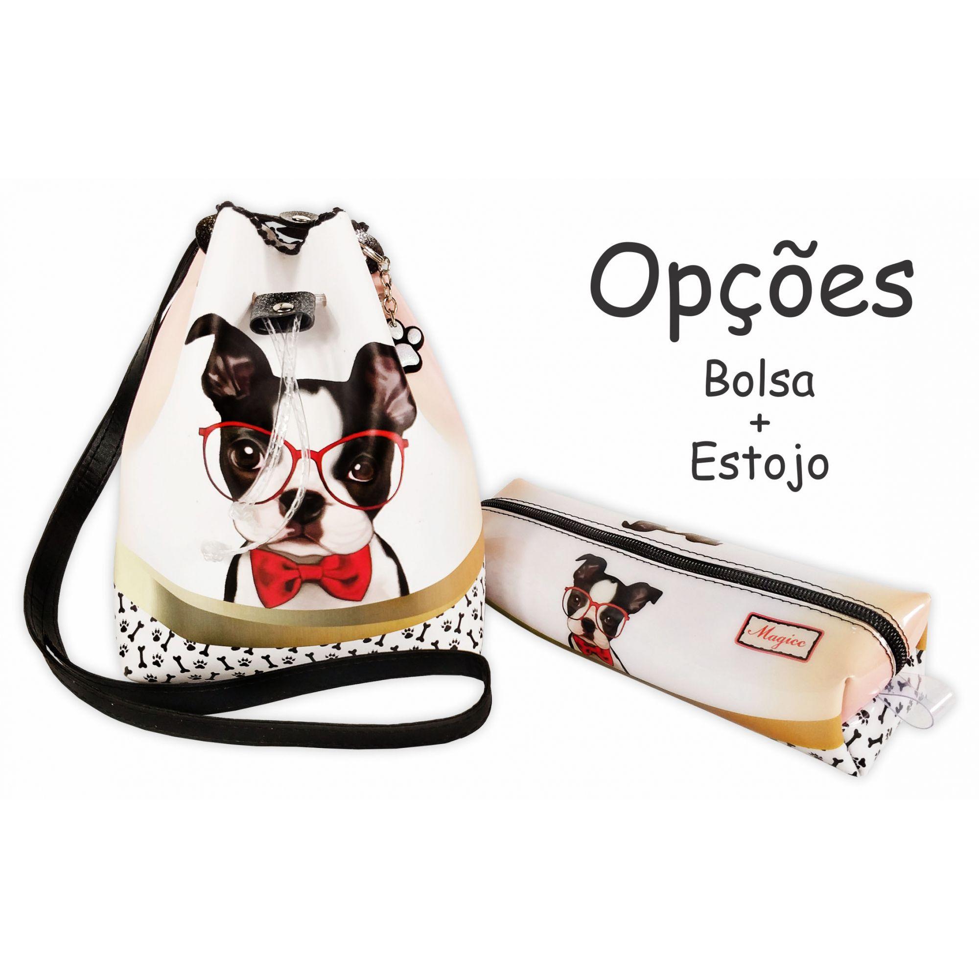 Bolsa Infantil Cachorrinho com Óculos, Magicc