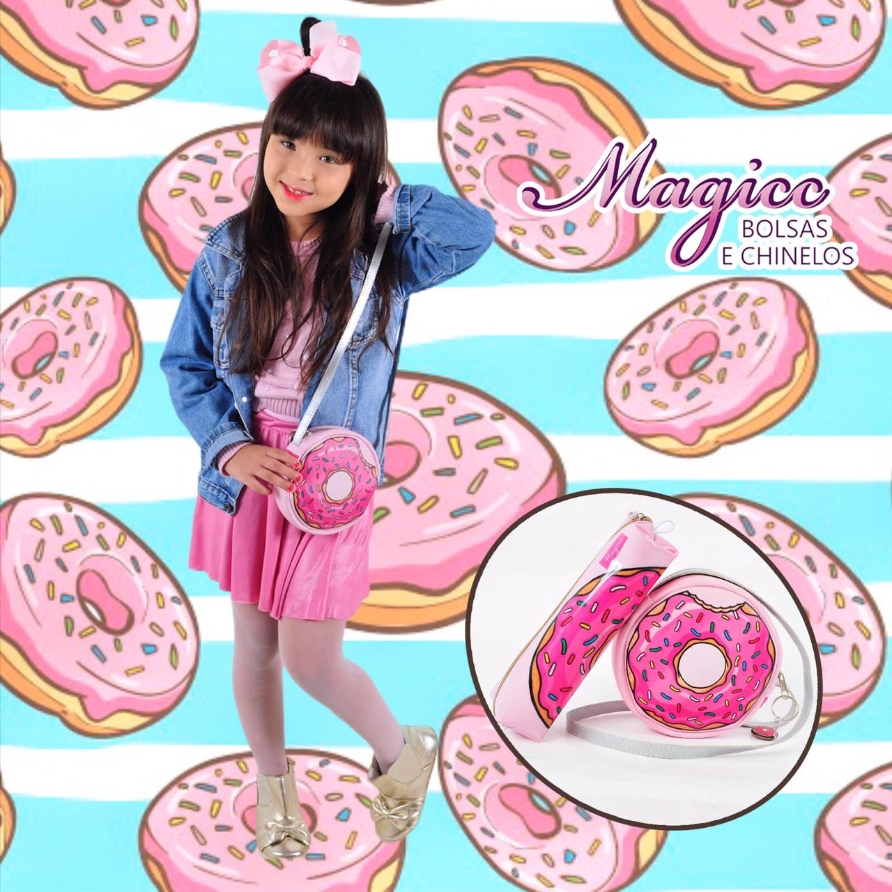 Bolsa Infantil Donut Rosa, Magicc