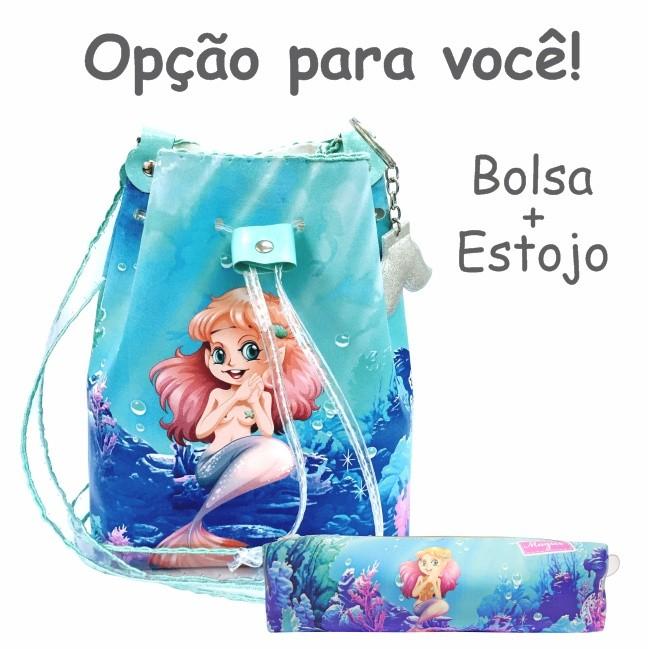 Bolsa Infantil Feminina Sereia Feliz, Magicc