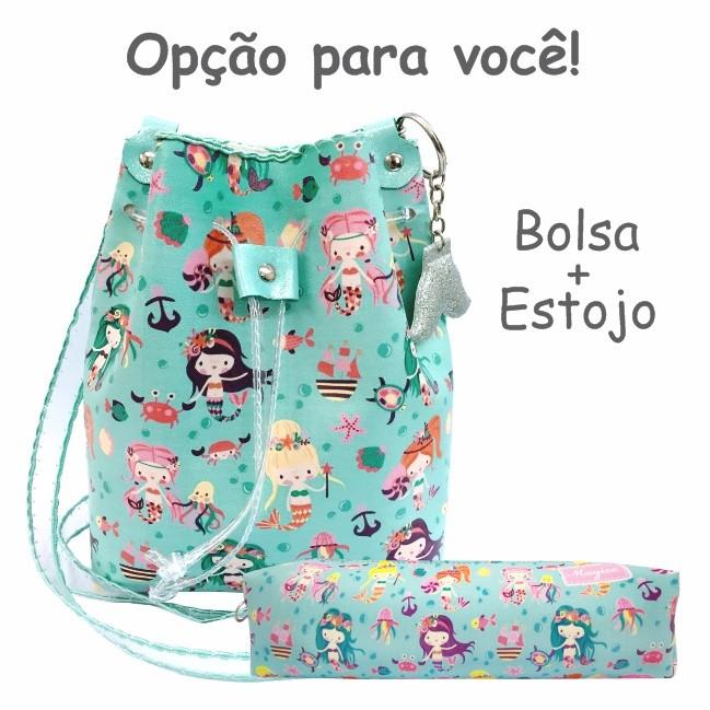 Bolsa Infantil Feminina Sereias Fundo do Mar, Magicc