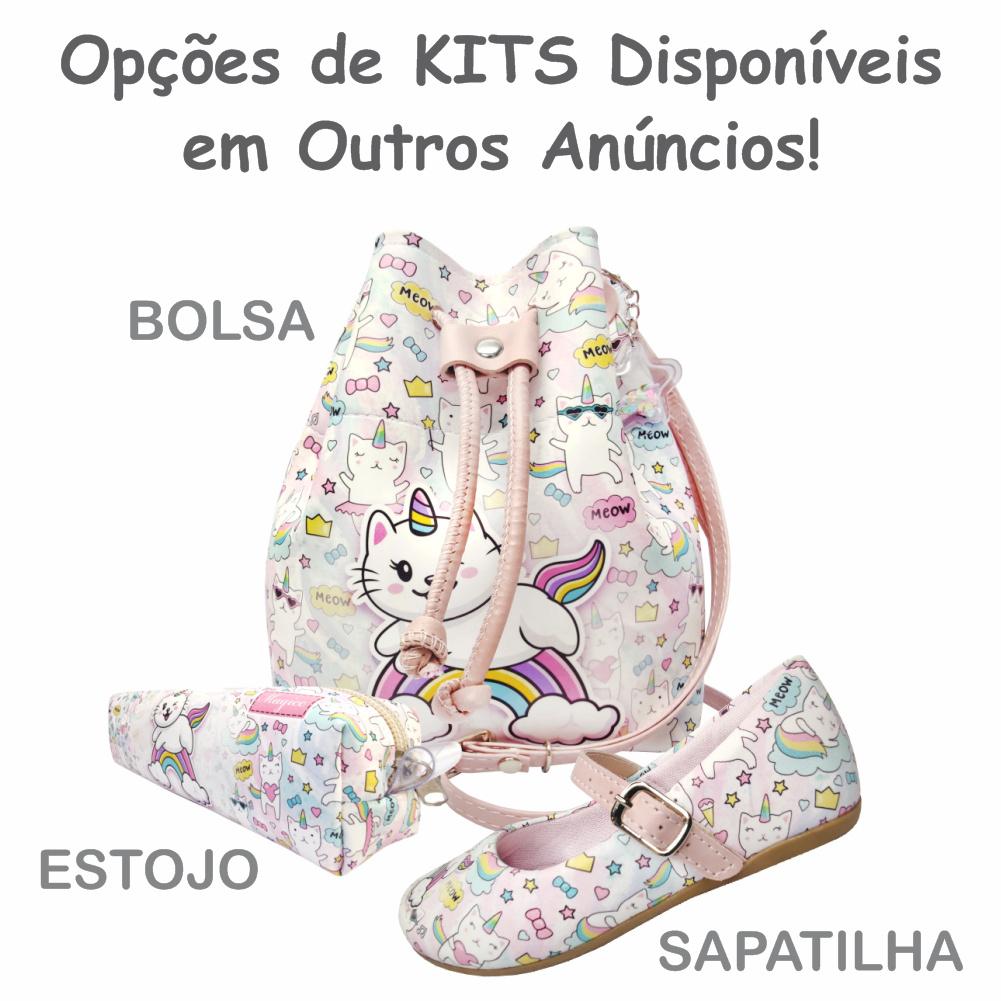 Bolsa Infantil Gatinho Unicórnio, Magicc