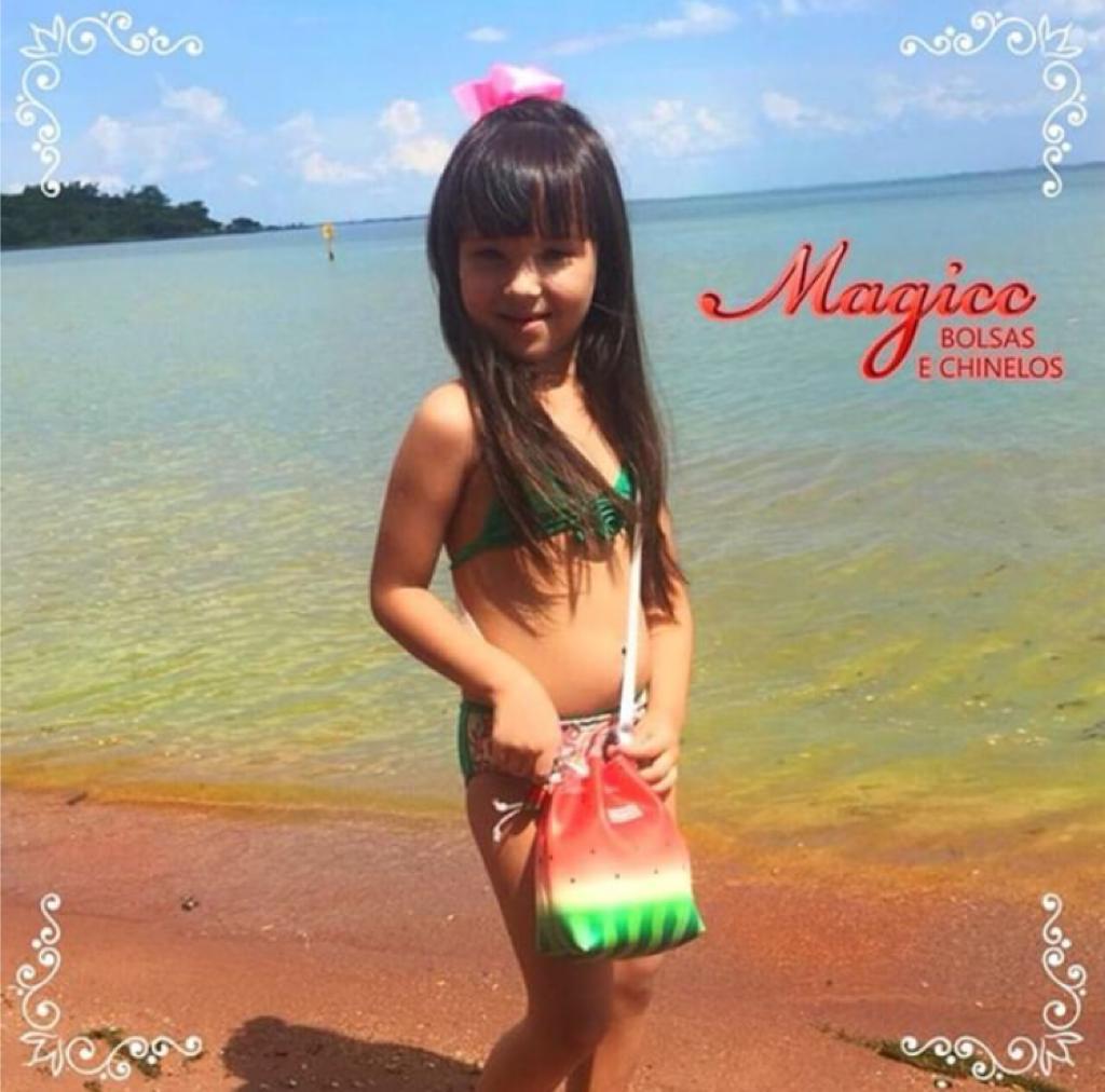 Bolsa Infantil Melancia, Magicc - Atacado 10 Bolsas