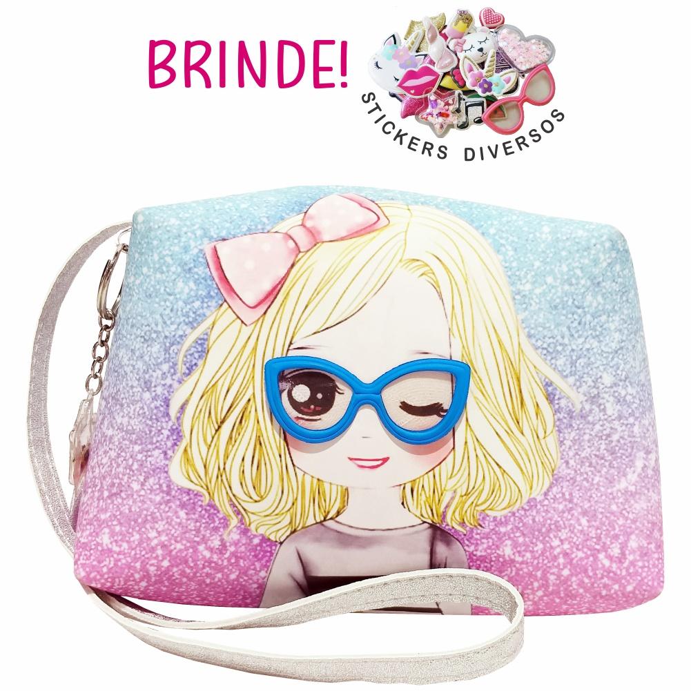 Bolsa Infantil Menininha Com Óculos, Magicc