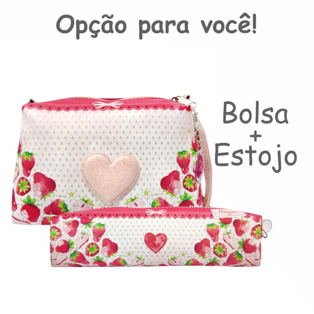 Bolsa Infantil Moranguinhos com Coração, Magicc