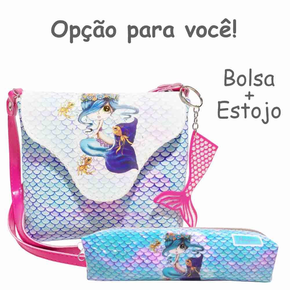 Bolsa Infantil Sereia Azul, Magicc