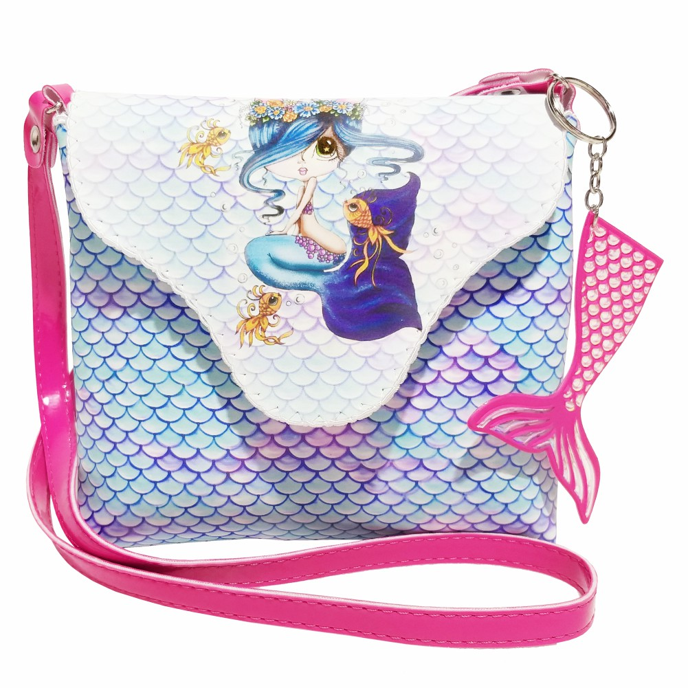 Bolsa Infantil Sereia Azul, Magicc - Atacado 10 Bolsas