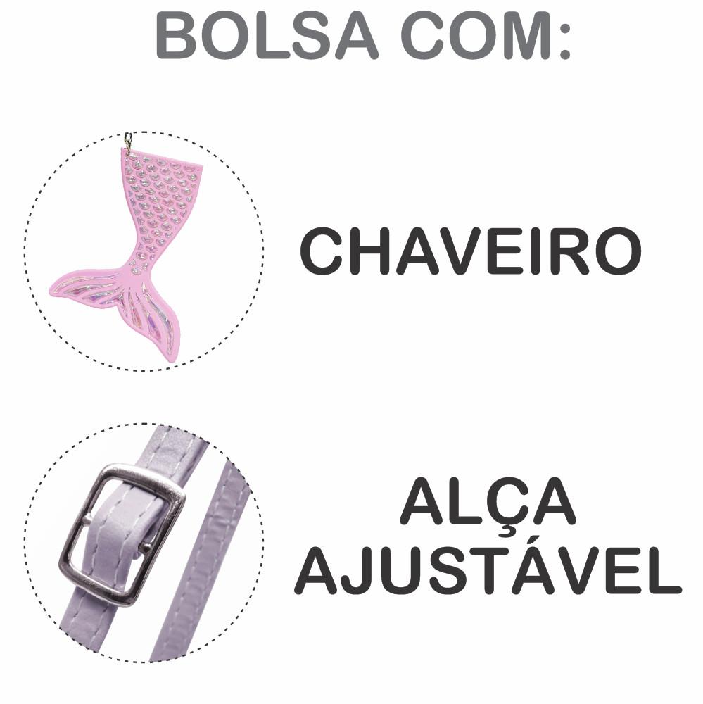 Bolsa Infantil Sereia E Conchas, Magicc