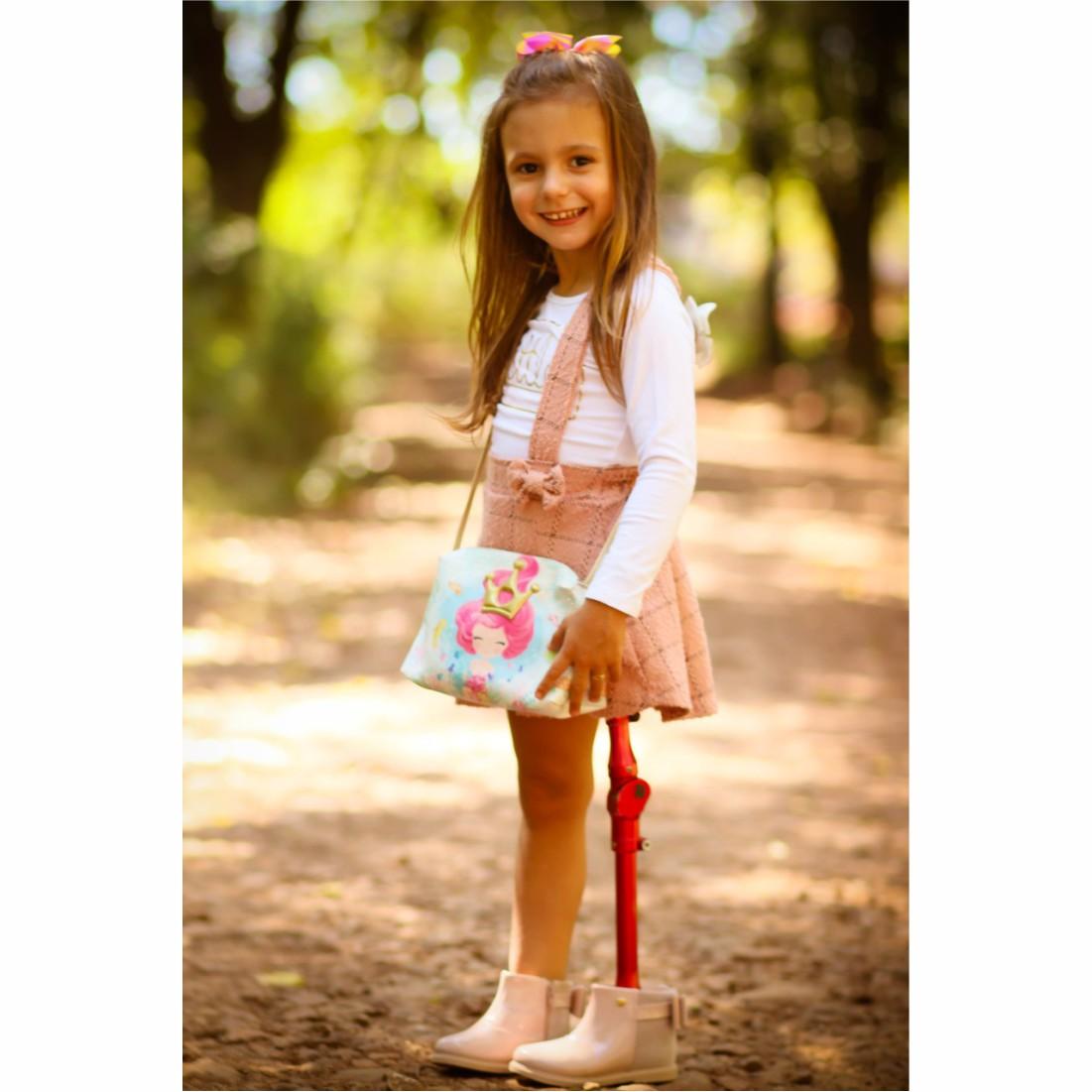 Bolsa Infantil Sereia Com Coroa Dourada, Magicc