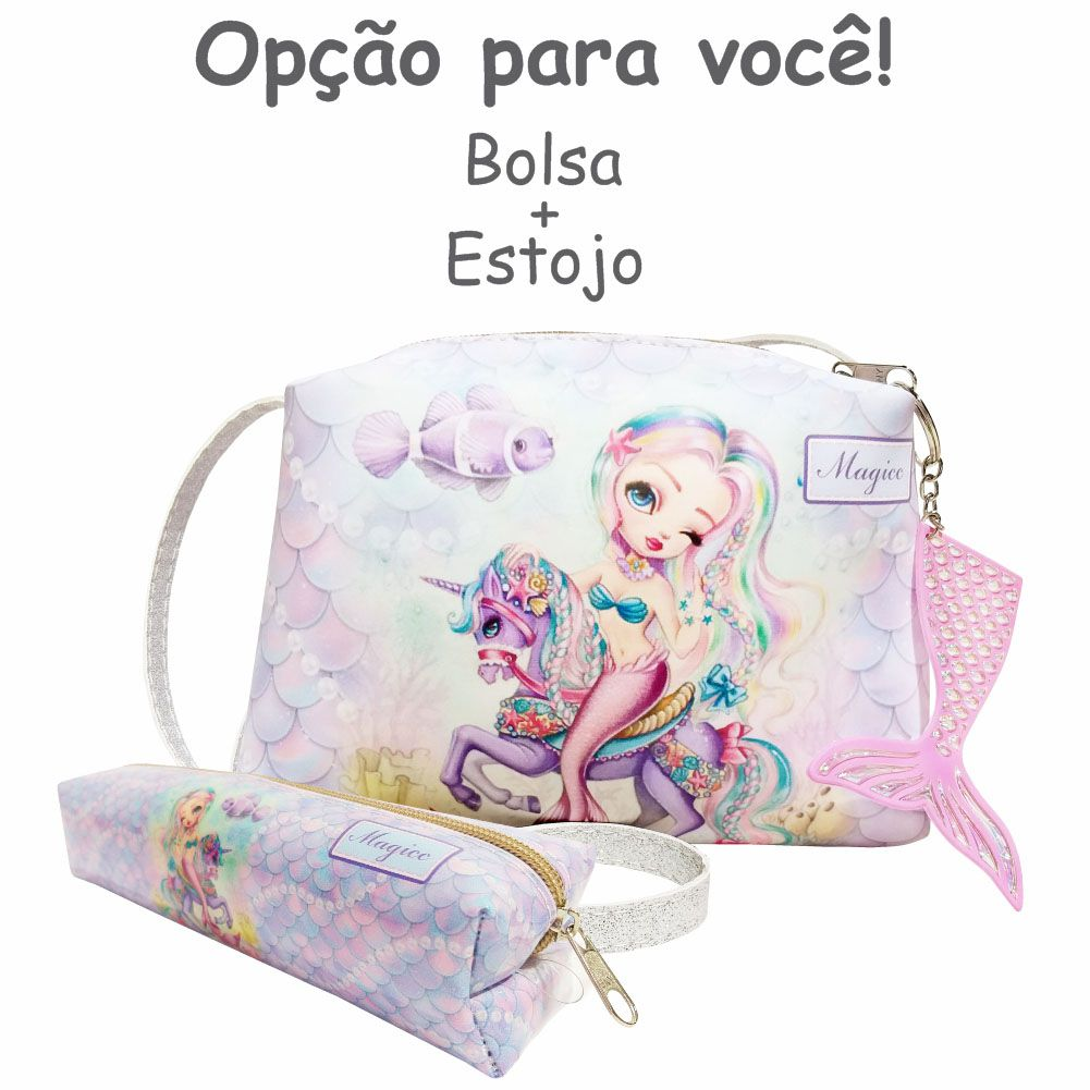 Bolsa Infantil Sereia Feliz, Magicc