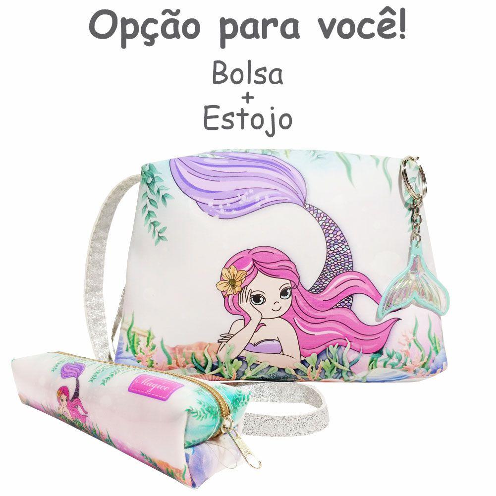 Bolsa Infantil Sereia Rosa, Magicc