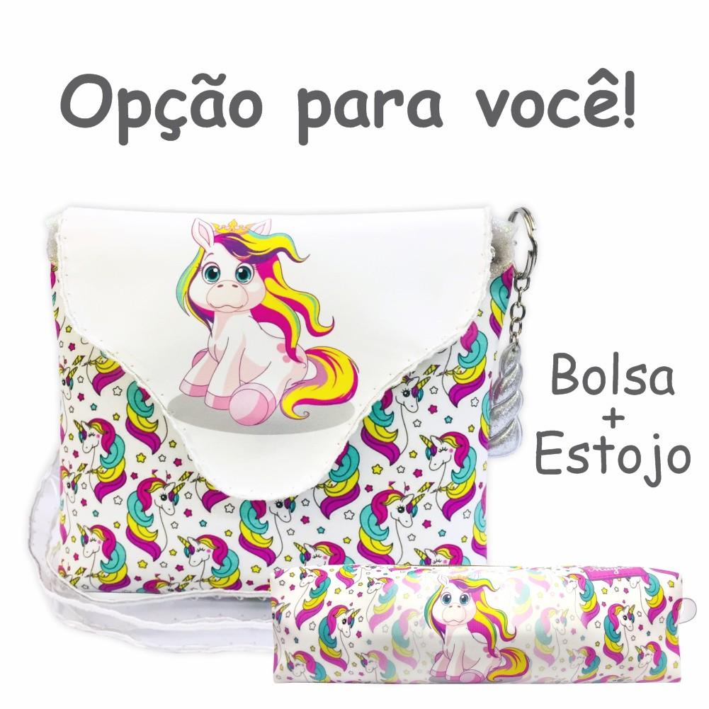 Bolsa Infantil Unicórnio Colorido, Magicc