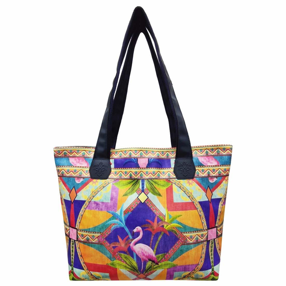 Bolsa Tropical Feminina  Geométrica, Magicc