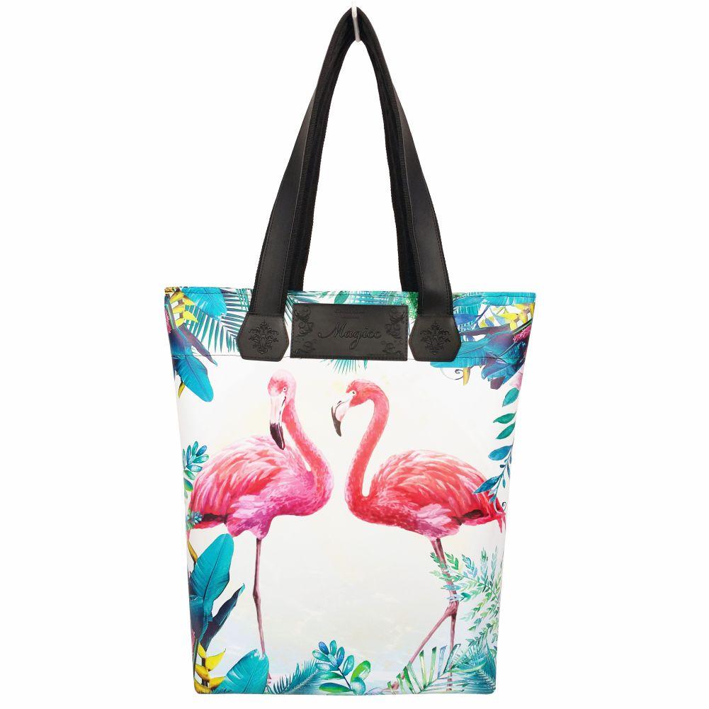 Bolsa Feminina Tropical Flamingos, Magicc