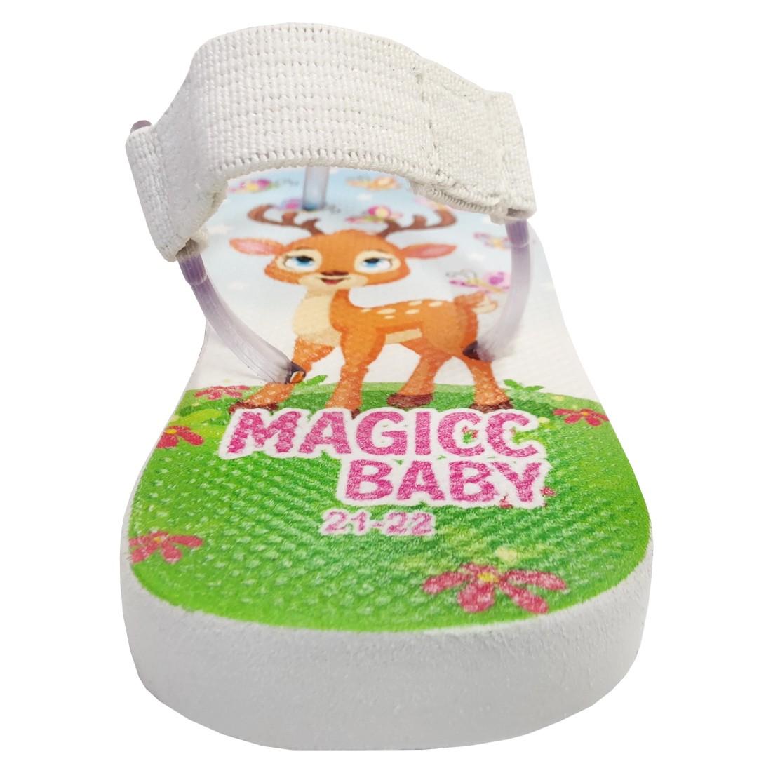 Chinelo Menina Bebê Sandália Cervo Borboletas Magicc Baby