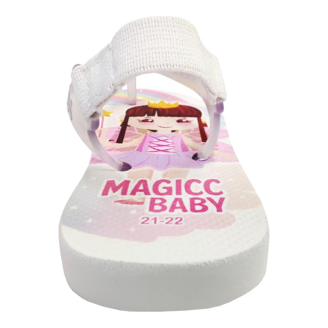 Chinelo Menina Bebê Sandália Fadinha Arco-Íris Magicc Baby